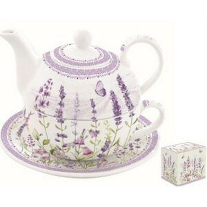 Teáskészlet porcelán 350ml szett, dobozban Lavender Field egyszemélyes