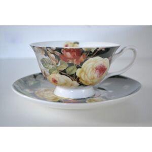 teáskészlet rózsás 6 db-os 180ml 10,5x6cm 6-6db csésze+alj finom porcelán
