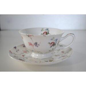 teáskészlet virágos 6 db-os kis virágos 250ml finom porcelán