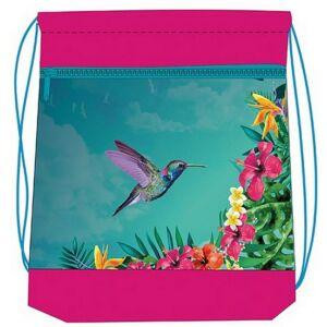 Tornazsák Belmil Tropical Colibri kolibris, 336-91 43x45cm hálós sportzsák Gym Bag