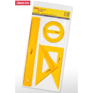 Vonalzókészlet 4db-os Aristo GEOContrast sárga AH22509