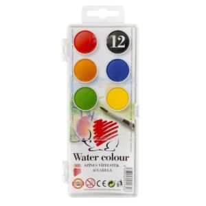 Vízfesték 12 Süni 12 színű 22,5mm iskolaszer- tanszer