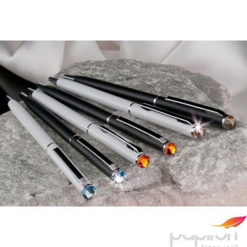 Swarovski toll fekete SLIM fehér kristály 13CM MADE WITH SWAROVSKI ELEMENTS