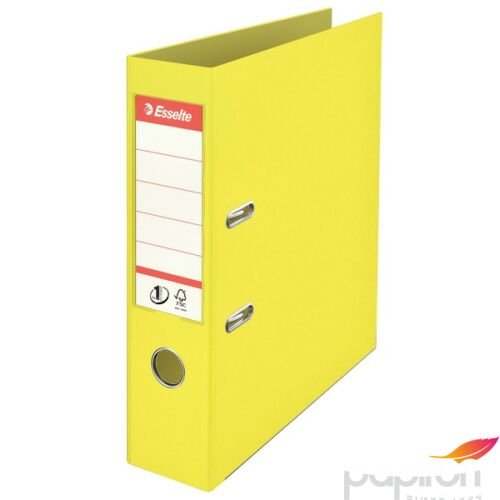 Iratrendező Esselte A4 75 mm PP, élvédő sínnel Colour Ice, sárga
