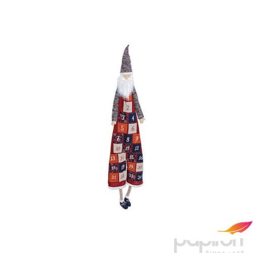 Adventinaptár textil 20' 180cm 24db zsebbel mikulás lábbal