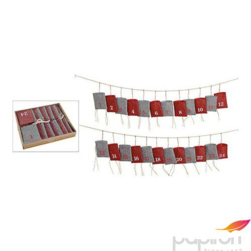 Adventinaptár textil 20' 320cm 10x13cm