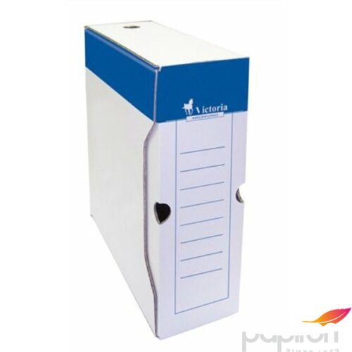 Archiváló doboz A4 Victoria 100mm kék-fehér karton Iratrendezés Victoria 24779