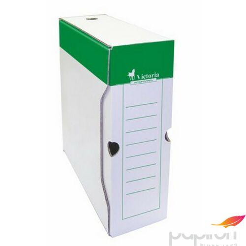 Archiváló doboz A4 Victoria 100mm zöld-fehér karton Iratrendezés Victoria 38071