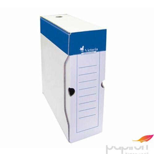 Archiváló doboz A4 Victoria 150mm kék-fehér karton Iratrendezés Victoria 38072