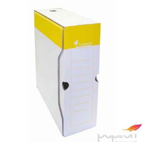 Archiváló doboz Victoria 100mm A4 sárga/fehér