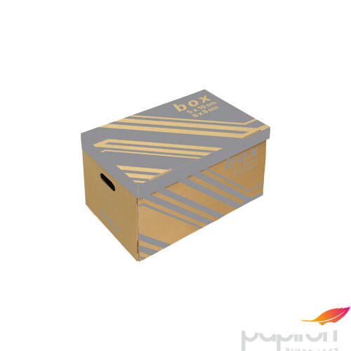 Archiváló konténer Fornax 522x351x305mm, 6db iratrendezőhöz+tető