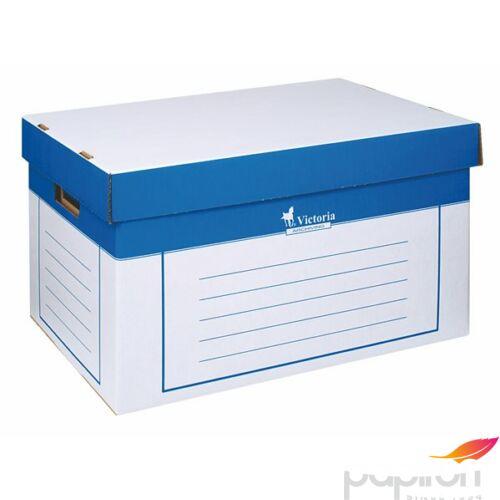 Archiváló konténer Victoria 320x460x270mm kék/fehér karton 2db-os Iratrendezés Victoria 24780