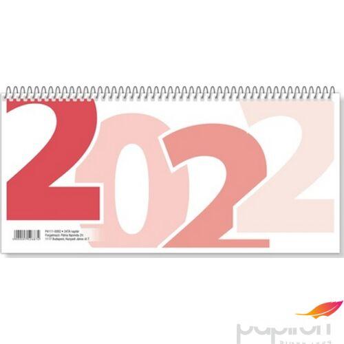 Asztali naptár 1 TA/24 2022 hátlap nélküli hagyományos 53 lapos-méret: 310x160 mm