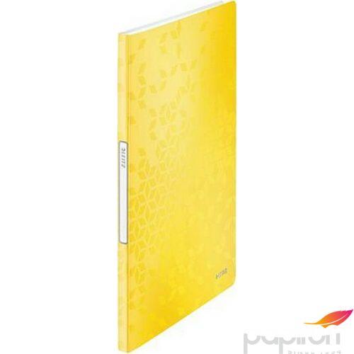 Bemutatómappa A4 Leitz 20 zsebes Wow, sárga Iratrendezés, archiválás