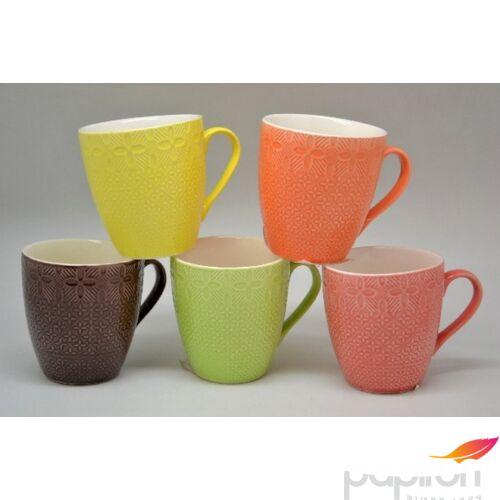Bögre porcelá 230ml Margaréta anyagában mintás több féle színben 23x35x9cm