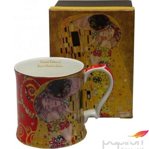 Bögre porcelán Klimt 350ml csók, piros