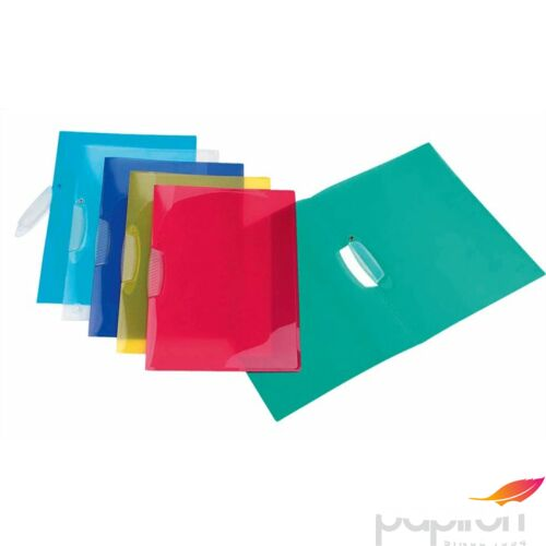 Clippes mappa Viquel PropyGlas V-Clip PP klippes gyorsfűző vegyes színek