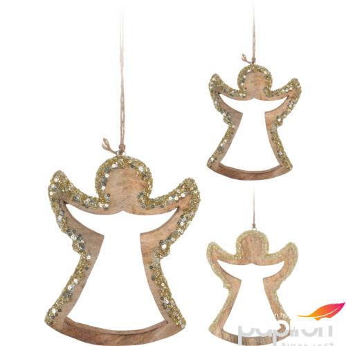 Dekor angyal felakasztható 20' arany, pezsgő színben 18,5cm