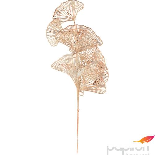 Dekor virág metál színben