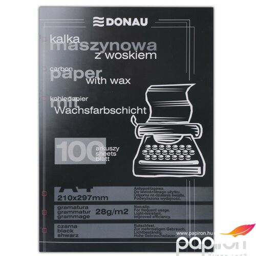 Indigó A4 gépi fekete Donau 100lap/csomag