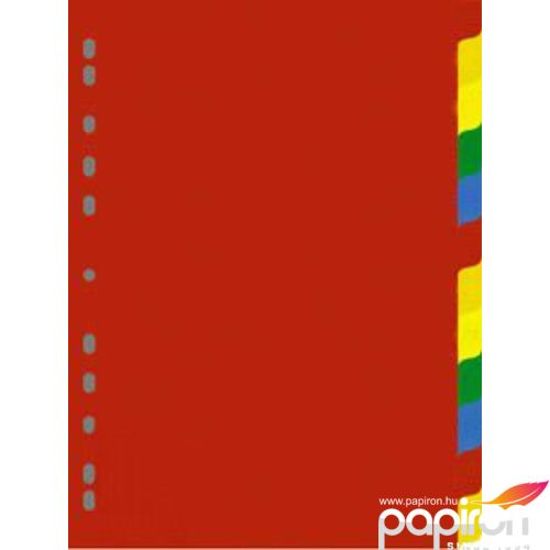 Elválasztó 12színű karton regiszteres