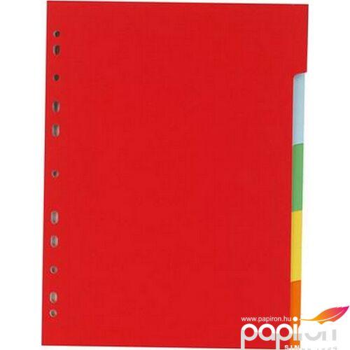 Elválasztó regiszter 5részes Victoria karton A4 színes Iratrendezés Victoria