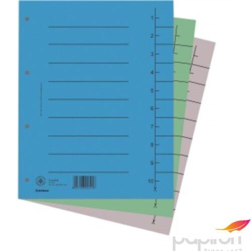 Elválasztó regiszter A4 Donau karton kék 100ív/csom Iratrendezés DONAU 8610001-10