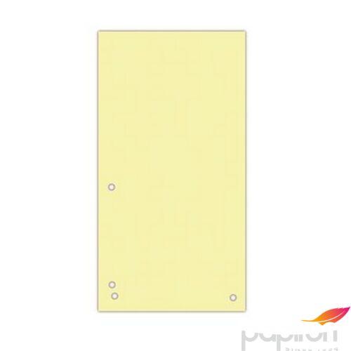 Elválasztócsík karton Donau 235x105mm citromsárga 100ív/csom Iratrendezés DONAU 8620100-11PL