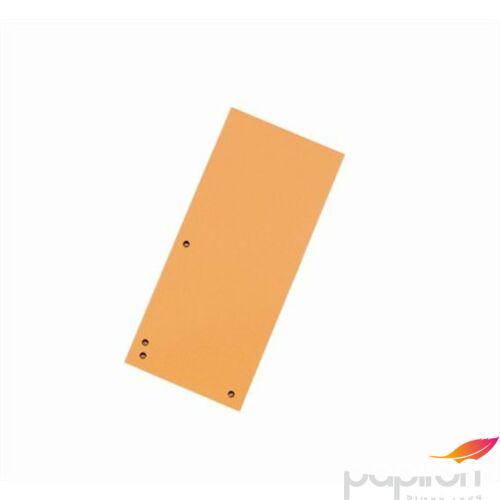 Elválasztócsík karton Donau 235x105mm narancs 100ív/csom Iratrendezés DONAU 8620100-12PL