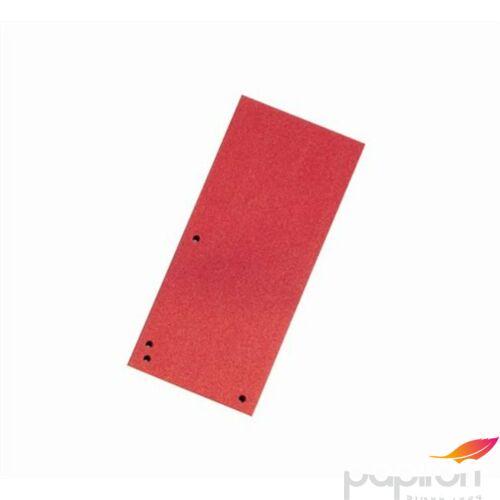 Elválasztócsík karton Donau 235x105mm piros 100ív/csom Iratrendezés DONAU 8620100-04PL