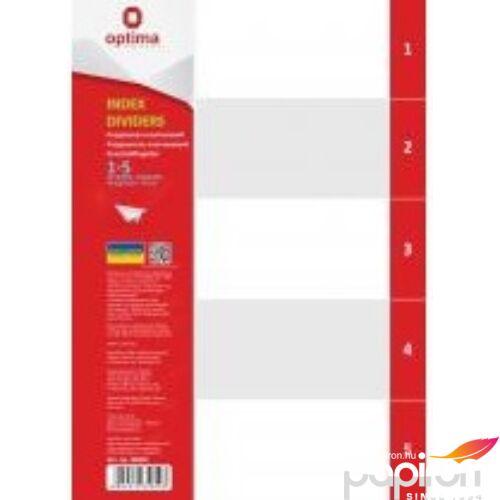 Elválasztólap A4 PVC Optima 1-5 natúr regiszteres Papiron