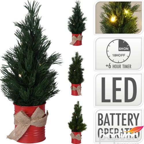 Fenyőfa 33cm leddel világítás 20 3 féle típusban műfenyő fém dobozban