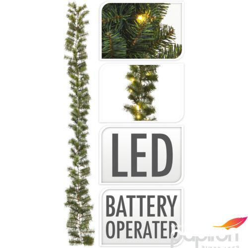 Fenyőgirland 270cm világítássa 150leddell