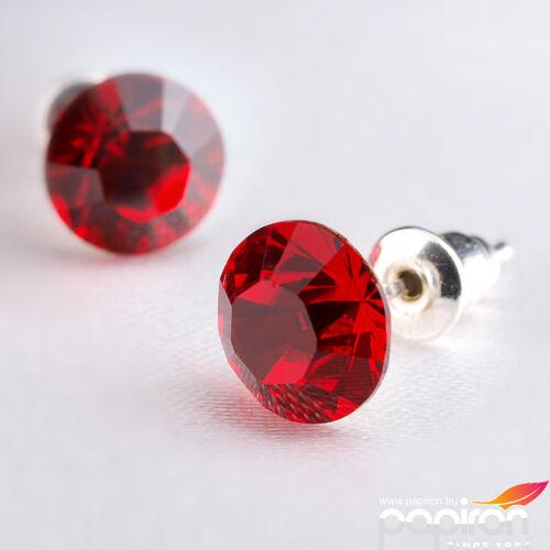 Swarovski fülbevaló Hölgyeknek 1 kristályos light syam piros 8mm MADE WITH SWAROVSKI ELEMENTS