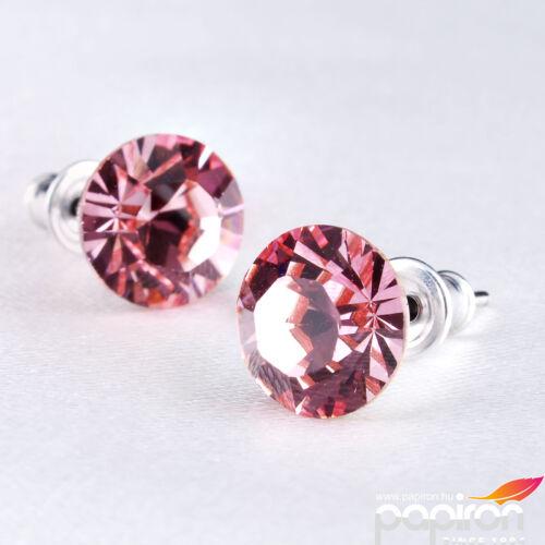 Swarovski fülbevaló Hölgyeknek 1 kristályos rózsaszín 8mm MADE WITH SWAROVSKI ELEMENTS