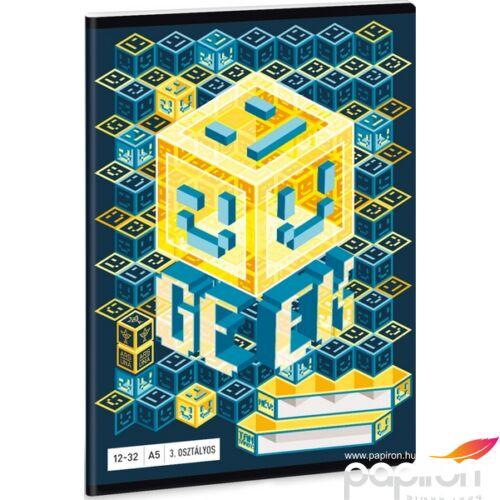 Füzet 12-32 A5 vonalas Ars Una Geek - Kocka 19 kollekció