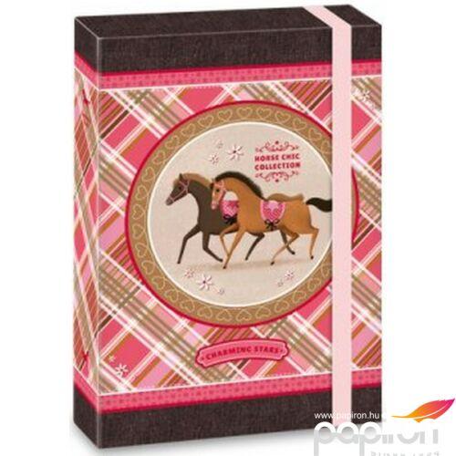 FüzetboxA5 gumis Lovas Charming Stars lovas 16' Ars Una dosszié kollekció