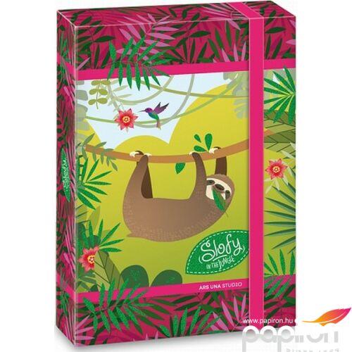 Füzetbox A5 lajhár 19' Slofy - Lajháros - Ars Una iskolaszezonos füzet, könyv tárolók
