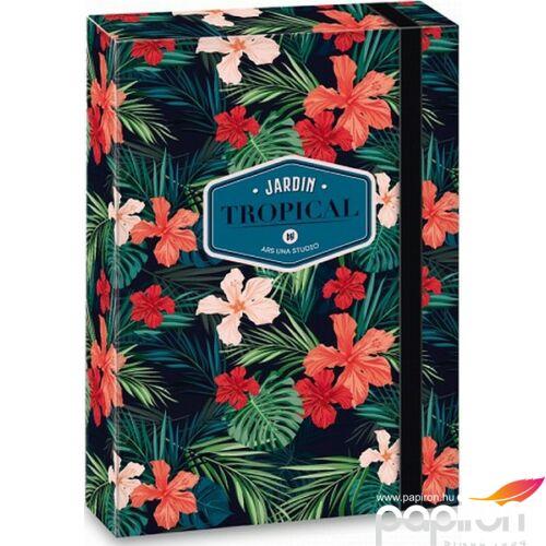 Füzetbox A5 gumis Tropical wildblume - virágos 19' Ars Una dosszié kollekció