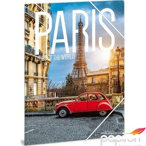 Gumis mappa A4 Párizs 19' Cities - Paris - Ars Una iskolaszezonos gumis dosszié kollekció