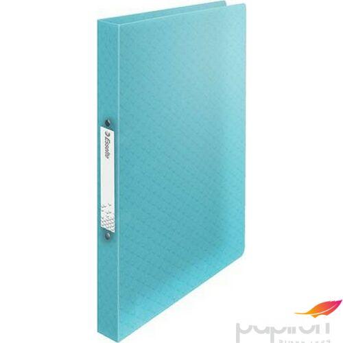 Gyűrűskönyv 25mm Esselte 2 gyűrű A4, PP Colour`Ice, kék