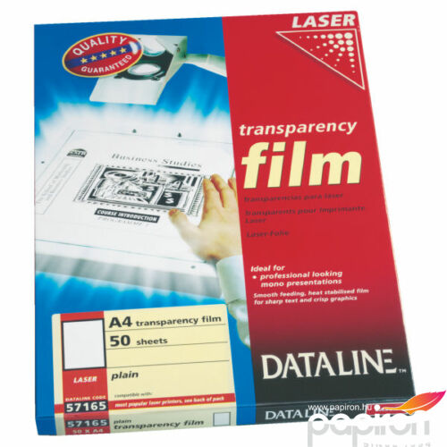 Írásvevítő fólia Dataline fekete-fehér lézernyomtatóhoz Esselte 100db rendelési egység ár 1csom