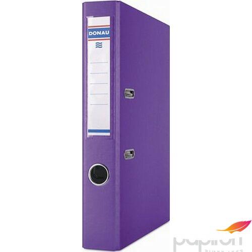 Iratrendező 50mm A4 Donau Premium élvédős PP műanyag lila Iratrendezés DONAU 3955001PL-23