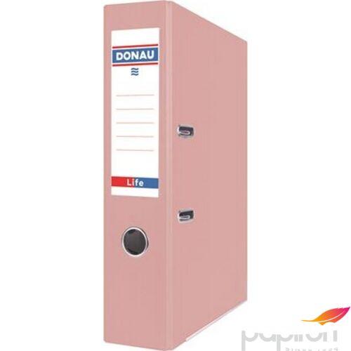 Iratrendező 75mm A4 Donau Life PP/karton pasztell rózsaszín Iratrendezés DONAU 3966001PL-30