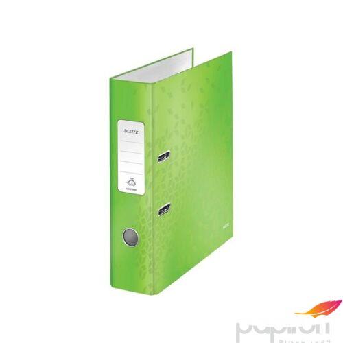 Iratrendező 80mm Leitz A4, karton, Wow, zöld Iratrendezés, archiválás