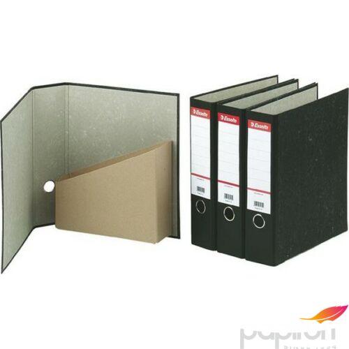 Iratrendező, iratpapucs Esselt egyben, 75 mm, A4, karton, márványos fekete