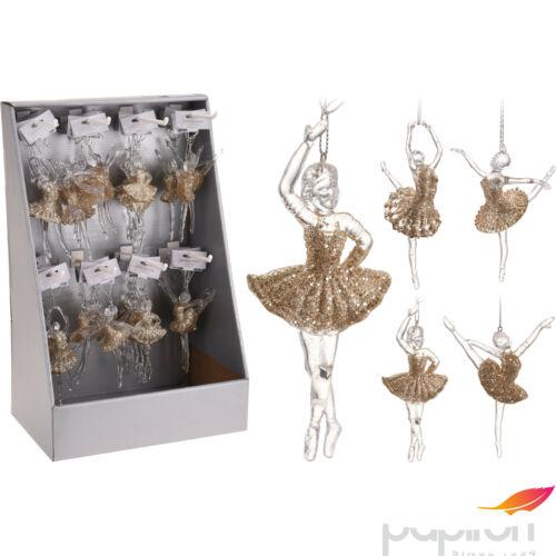 Karácsonyi 15cm balerina arany 4féle mintával