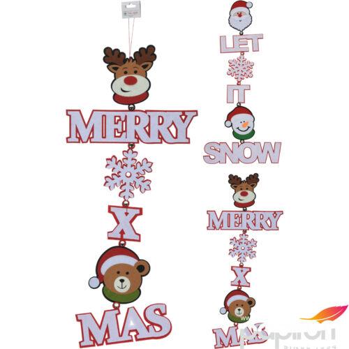 Karácsonyi 30cm dekoráció 2féle mintával ajtódísz