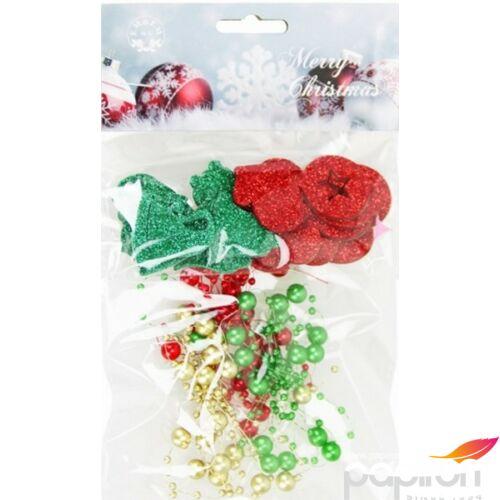 Karácsonyi dekoráció vegyes filc dekoráció