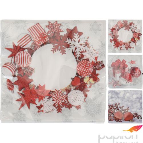 Karácsonyi szalvéta 33cm 3féle mintában